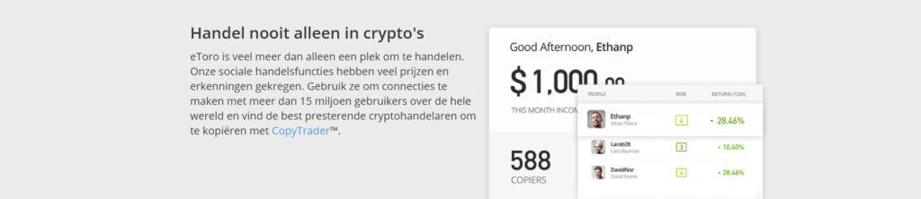 eToro copy trader crypto