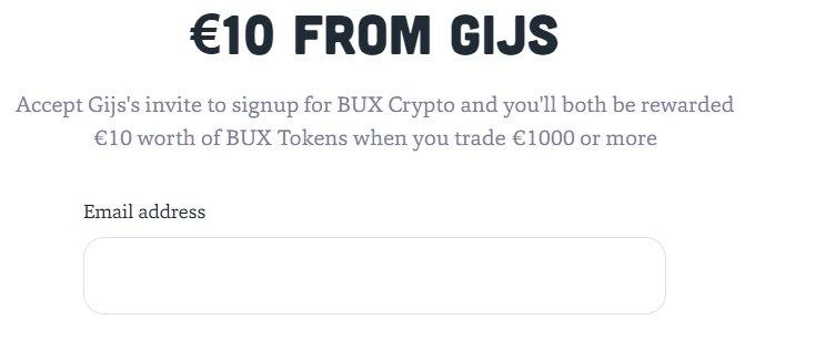 Bux Crypto aanmeldingsbonus