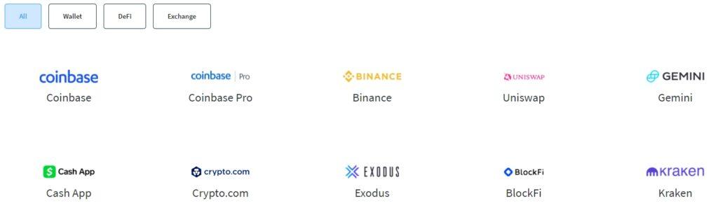 Crypto trader tax exchange integraties